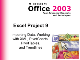Excel Project 9