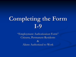 How To Fill Out An I-9: - Human Resources
