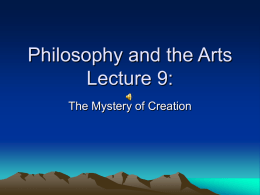 Philosophy and the Arts Lecture 9: