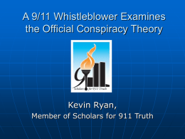 9/11: A Closer Look at the Official Conspiracy Theory