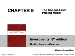 Chapter 9: The Capital Asset Pricing Model
