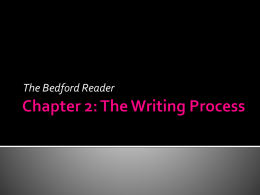 Chapter 2 - Bedford Reader Power Point