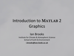 Introduction to MATLAB 2 Graphics & Functions