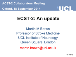 Martin Brown: ECST-2 update - the ACST