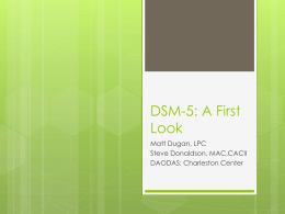 DSM-5: A First Look - Mental Health Heroes