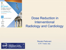 SESSION 5: Radiation protection of patients and staff in