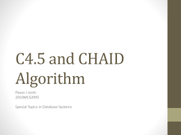 C4.5 and CHAID Algorithm