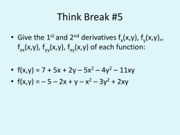 Think Break #5 Answer