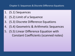 Chapter 5 - Mathematics for the Life Sciences