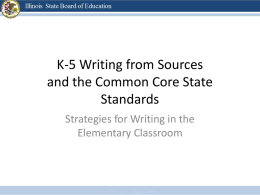 K-5 Writing and CCSS - College of Education