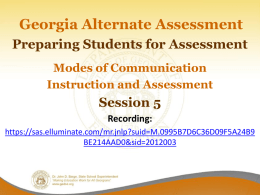 Session 5 - Georgia Department of Education