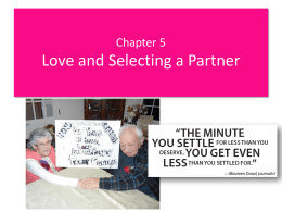 Chapter 5. Chosing a Partner