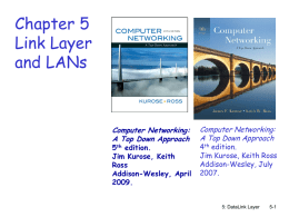 Chapter 5 on Link/MAC Layer - Department of Computer and
