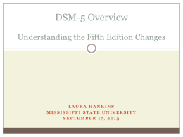 DSM-5 Understanding and Interpreting