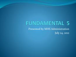 Fundamental 5 Presentation