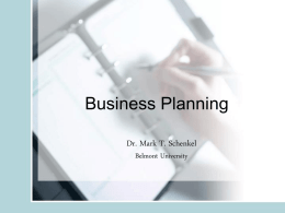 ETP 6500 Week 4 slides Business Planning