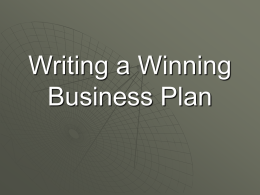 Writing a Winning Business PlanforWeb