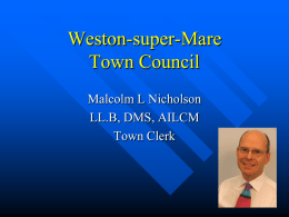 weston-super-mare - why a town council