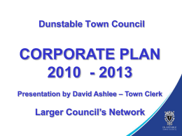 Dunstable Corporate Plan presentation
