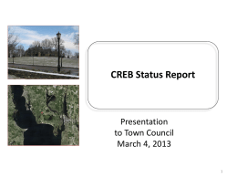 CREB Status Report -  March 4 2013