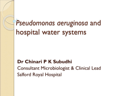 Pseudomonas aeruginosa and hospital water systems-1 21