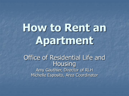 How to Rent an Apartment