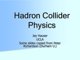 collider physics hauser
