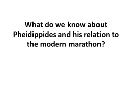 Pheidippides and the marathon