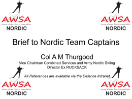 20140923-Nordic Brief to Army Nordic Team Captains
