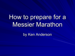 how to prepare Messier Marathon