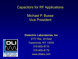 Capacitors for RF Applications