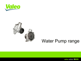 Water Pumps range short presentation
