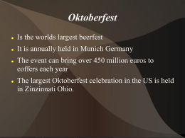 German Culture project Oktoberfest