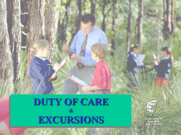Duty of Care & Excursions Presentation 2006