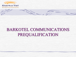 BARKOTEL COMMUNICATION