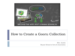 How to Create a Gooru Collection