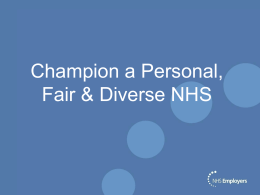 Champion a Personal, Fair and Diverse NHS