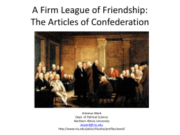A Firm League of Friendship - Northern Illinois University