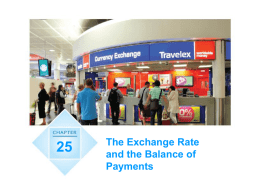 Chapter 25: The Exchange Rate and the Balance of Payments