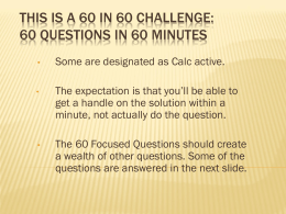 This is a 50 in 50 Challenge: 50 questions in 50 minutes
