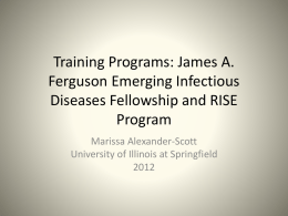 Training Programs: James A. Ferguson Emerging Infectious