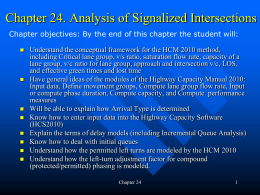 Lec 29:Analysis of signalized intersections