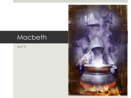Macbeth Act V
