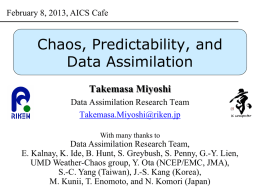 Chaos, Predictability, and Data Assimilation