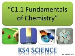 C1.1 Fundamentals of Chemistry