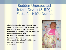 Sudden Infant Death Syndrome: Facts for NICU Nurses