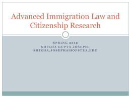 Advanced Immigration Law and Citizenship Research