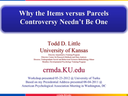 Why the Items versus Parcels Controversy Needn`t Be One.
