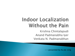 Indoor Localization Without the Pain