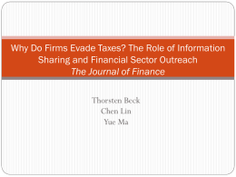 Why do firms evade taxes? The role of banking sector outreach